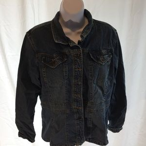 Women's Liz Claiborne Blue Jean Jacket Size XL